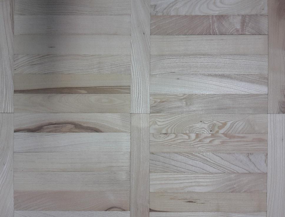 Jaseňové drevené masívne podlahy, klasické parketové vlysy, zámocky vzor